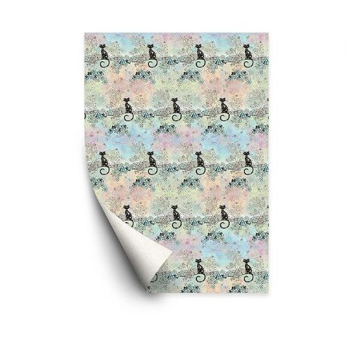 Bug Art Collection Cat Gift Wrapping Paper Sheets